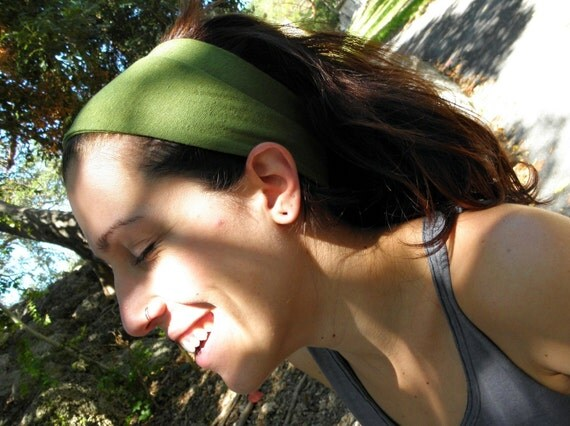 Yoga Headband in Organic Hemp Jersey Stretch.