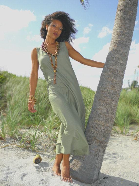 The Whisper Organic Maxi Dress. Sustainable organic hemp custom made clothing by Grateful Threads Asheville. Handmade. Conscious. Organic.