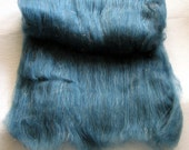 Black Cat Handspun spinning batt A Touch of Teal SW merino sparkle