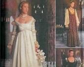 NEW Simplicity Renaissance  ren fair wedding Dress Pattern sizes ten twelve fourteen
