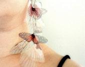Long Fluttery Cluster Earring - Statement piece SINGLE
