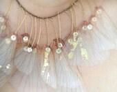 Wings of Iris- Organza Necklace