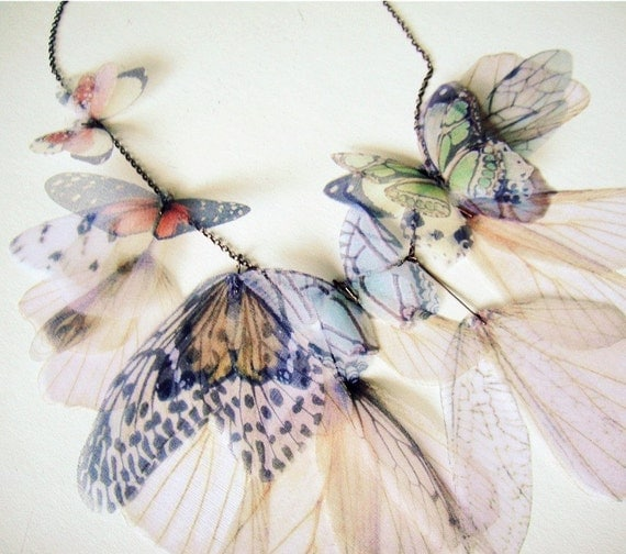 Fluttery Breath of Life Necklace- Earth Tones  -Made to Order-