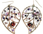 Leaf Earrings with Lady Bug