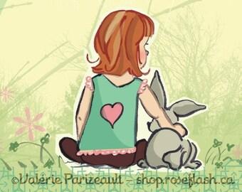 Série Meilleurs amis pour la vie - Lapino   Best Friend Series Print - Bunny