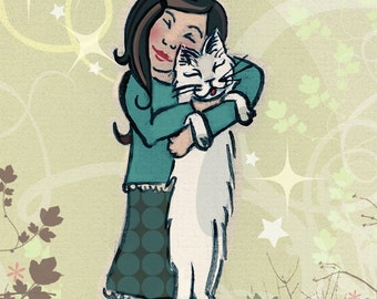 Série Meilleurs amis pour la vie - Minet   Best Friend Series Print - Kitty