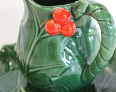 Vintage Lefton China Holly Pitcher and Dish
