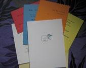 Assorted custom letterpress samples - baby