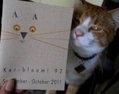 letterpress zine about orange cat