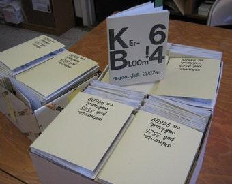 Kerbloom letterpress zine issue 64