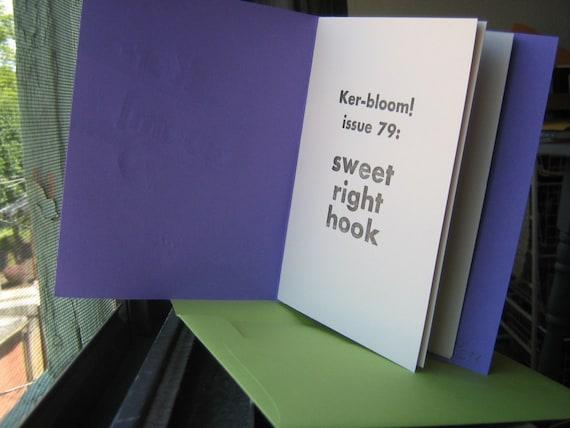 LAST COPY -Kerbloom 79 letterpress zine in fabulous purple