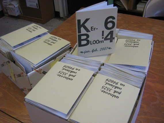 Kerbloom letterpress zine issue 64