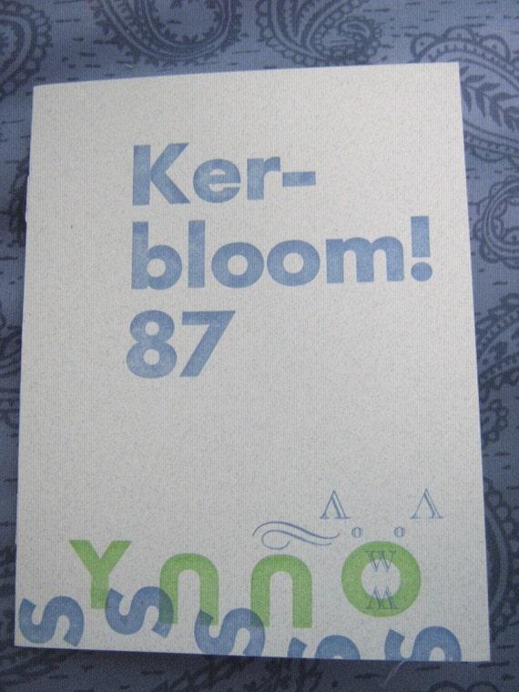 letterpress zine about being a kid