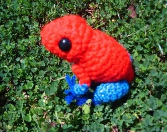 Pumilio the Strawberry Poison Dart Frog Amigurumi