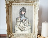 The Sweet Cake -  8 x 10 Giclee Fine Art Print - Gorjuss Art