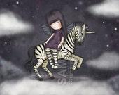The Dark Streak - 8 x 10 Giclee Fine Art Print - Gorjuss Art