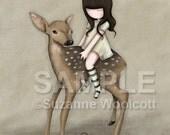 Im So Sorry For Your Loss - 8 x 10 Giclee Fine Art Print - Gorjuss Art