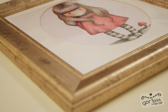 RESERVED For Landa - Original Framed Drawing 8 x 10 - In The Shade