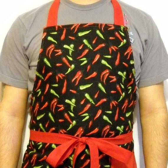 Man-Apron Hot Chilis