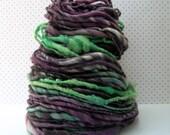 eggplant morning - handspun yarn
