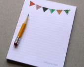 Bunting Notepad Lined Banner Flag Colorful