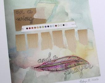 Print Wing and a Prayer Reproduction Original Mixed Media Piece