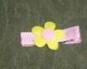yellow felt flower