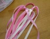 pinks ribbon ponytailer