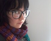 rainbow stripe scarf 2: electric boogaloo - warm multicoloured wool knit striped scarf