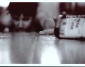 flu season.  4 x 6 black and white photograph