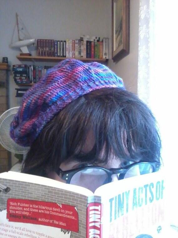 wool beret - twilight sparkle - MLP knitting is magic purple winter hat
