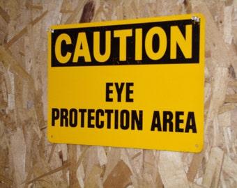 Vintage Caution Sign Industrial