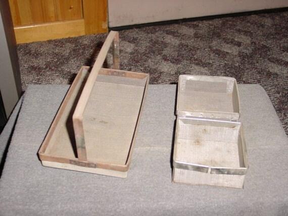 Industrial Wire Basket Set Vintage