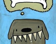 "Dog Bone Print 9"" x 12"""