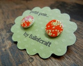 Petit Pois Earrings with Tree Blossoms