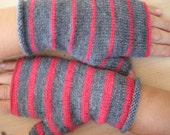 hot pink grey twin gloves