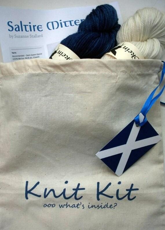 Saltire Mitten Knit Kit