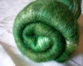 Garden - hand dyed BFL and silk batt