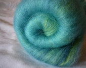 Ice Floe- hand dyed BFL and silk batt