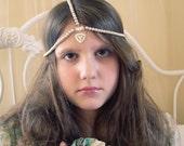Dream Pearl Simple and Elegant  Beaded Tiara Crown Headdress Head Chain