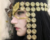 Venetian Courtesan d'oro Mask Headdress Amazing Costume Piece