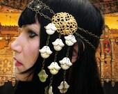 Golden Dawn Headdress Art Nouveau Head Piece gorgeous vintage components