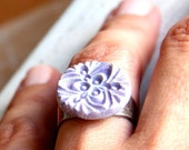 Tamar Ring - lilac and silver