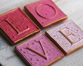LOVE PINK MAGNETS-set of 4