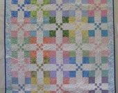 Pretty in Pastel 9 Patch Quilt