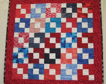 Red, White Blue Baby Quilt