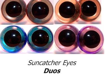 24mm Suncatcher Eyes - 4 pair of Duos, Craft Animal Eyes
