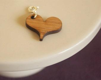 Bamboo Heart Charm