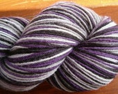 Hand Dyed Sock Yarn NIGHTMARES Stripes