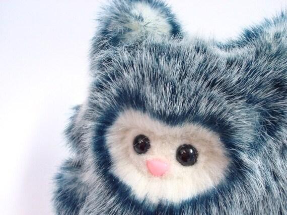 Cute Plush Monster -- Blueberry Wolfling -- Handmade Stuffed Animal